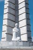 在革命正方形的何塞马蒂纪念碑在哈瓦那 库存图片
