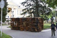 在革命以后的基辅Maidan 库存照片
