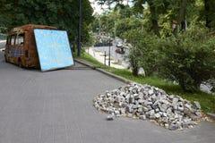 在革命以后的基辅Maidan 免版税库存图片