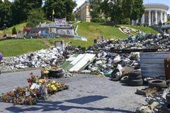 在革命以后的基辅Maidan 图库摄影