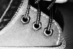在鞋子的鞋带 库存图片