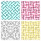在韩国样式的几何无缝的织法线样式 免版税库存照片