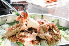 在韩国样式的格栅猪肉 免版税图库摄影