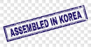 在韩国长方形邮票装配的难看的东西 向量例证