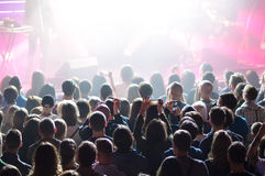 在音乐会期间的人群 库存图片