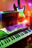 在音乐会的乐器 免版税库存图片