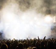 在音乐会的人群 免版税图库摄影