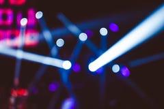 在音乐会的探照灯 库存照片