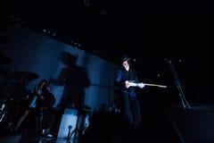 在音乐会的杰克白色 免版税库存图片