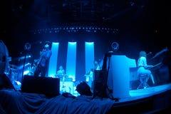 在音乐会的杰克白色 库存图片