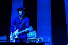 在音乐会的杰克白色 免版税库存照片