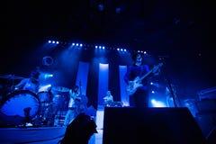 在音乐会的杰克白色 库存照片