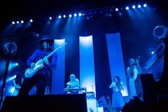 在音乐会的杰克白色 图库摄影