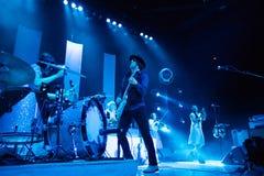 在音乐会的杰克白色 免版税图库摄影