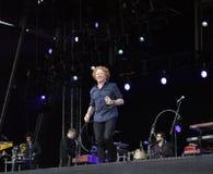 在音乐会的米克hucknall在唐卡斯特 库存图片