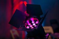 在音乐会的聚光灯 库存照片