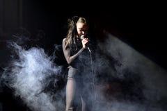 在音乐会的赤裸带在Primavera俱乐部2015年节日 库存照片