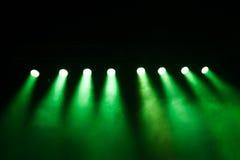 在音乐会的阶段光 库存照片