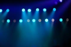 在音乐会的阶段光 免版税库存图片