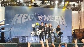 在音乐会的Helloween 免版税库存图片