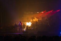 在音乐会的Trans西伯利亚乐队 库存照片