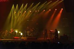 在音乐会的Trans西伯利亚乐队 免版税库存照片