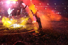在音乐会的U2 图库摄影
