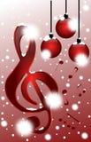 在音乐的圣诞节 库存图片