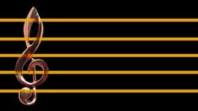 在音乐纸张的高音谱号 向量例证