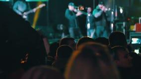 在音乐节的音乐会人群 影视素材