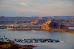 在页附近的湖鲍威尔,亚利桑那 库存图片
