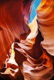 在页,亚利桑那附近降低羚羊峡谷视图 库存图片