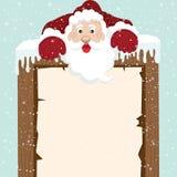 在顶面标志的圣诞老人攀登 库存例证