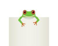 在顶面白皮书,传染媒介的红色眼睛青蛙 库存例证