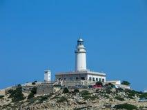 在顶面问题的灯塔的海角Formentor,马略卡 免版税库存图片