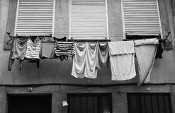 在项目的洗衣店 免版税库存照片