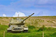 在领域的坦克 免版税库存图片