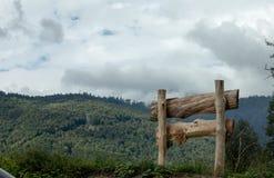 在领域的木篱芭 免版税图库摄影