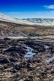 在领域的泥 免版税库存图片