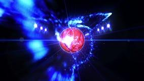 在领域的篮球在颜色照明设备下 体育队概念 o ?? ?? 聚光灯在晚上 股票视频