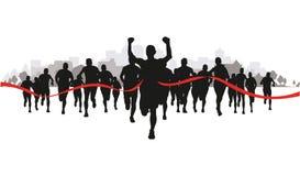 在领域的赛跑者 免版税库存图片