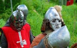 在领域的骑士比赛 免版税库存照片