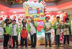 在领域购物中心香港的圣诞前夕caroling的事件 免版税库存图片