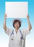 在题头之上她的藏品护士符号 图库摄影