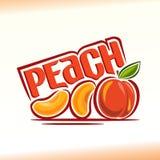 在题材桃子的传染媒介例证 免版税库存图片