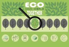 在题目的Infographics怎样从中环境灾变拯救世界 库存图片