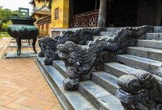 在颜色古老城堡的建筑学,越南的Dargon 库存图片