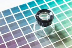 在颜色图表的放大器 图库摄影