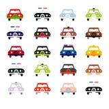 在颜色的城市汽车 免版税库存图片