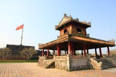 在颜色的旗子塔,越南 库存图片